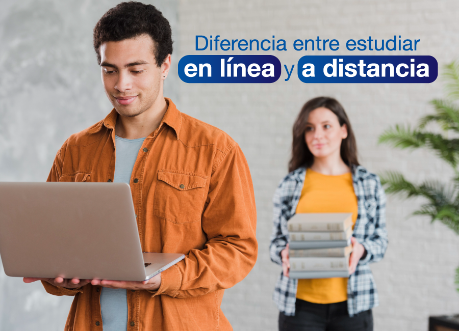 ¿Cuál es la diferencia entre los estudios en línea y a distancia?