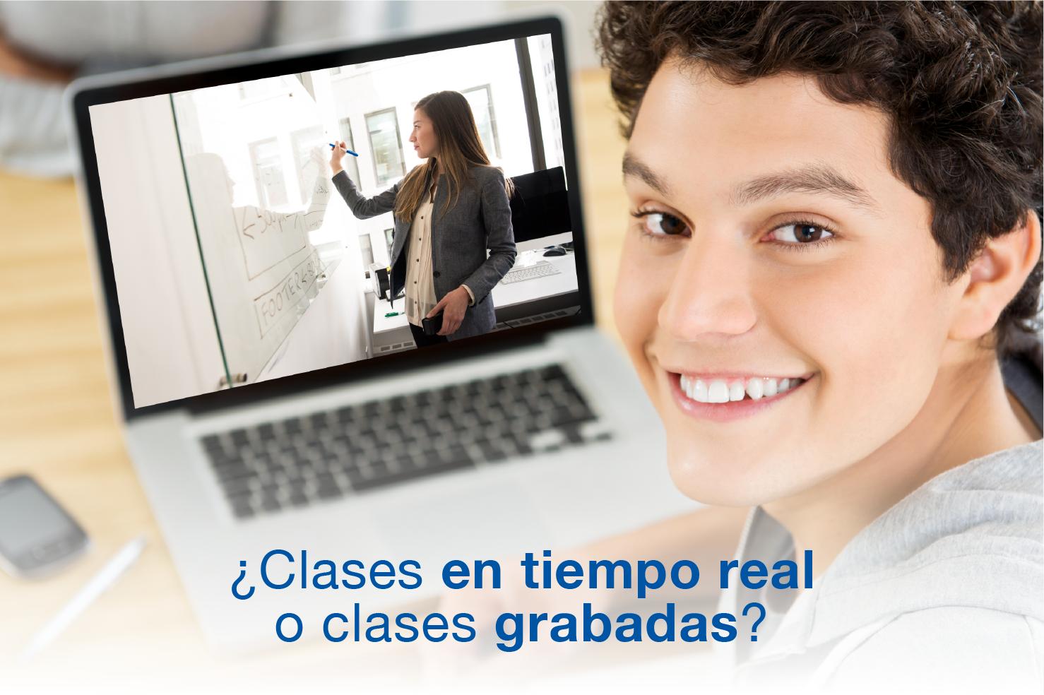 ¿Clases en tiempo real o clases grabadas?