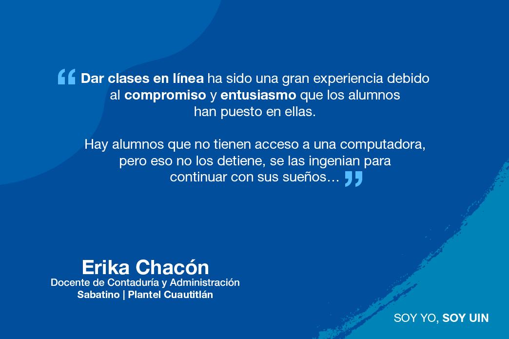 Testimonio de Ericka Chacon