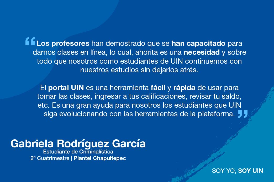 Testimonio de Gabriela Rodríguez
